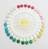Pin Wheel - Flower Pearl Pins