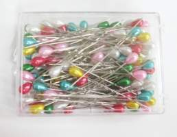 Large Pearl Pins - Mixed Colours