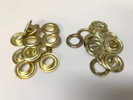 #1 Eyelets & Washers (9mm Hole), Brass