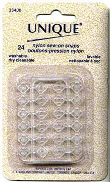 Clear Sew-on Snaps | Notions | PacCana Enterprises