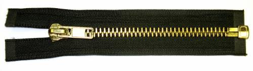 Heavy Brass Jacket Zipper (One Way)