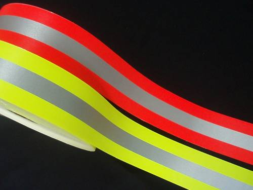 Reflective Tape - Fluorescent w/Stripe