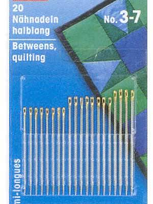 Quilters Betweens Hand Sewing Needles #3-7