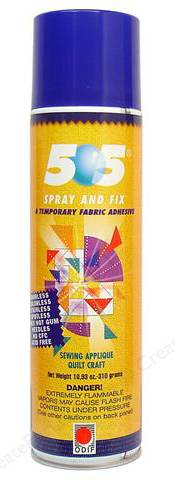 """505"" Temporary Fabric Adhesive"
