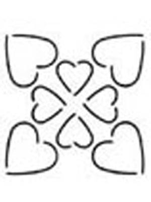 Quilting Stencil - Hearts