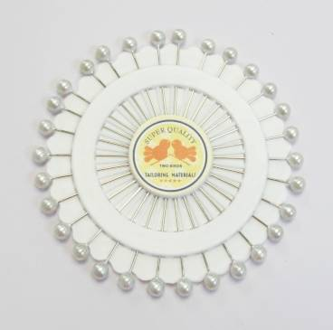 Pin Wheel - White Pearl Pins