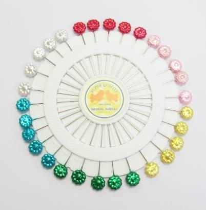 Pin Wheel - Flower Pearl Pins