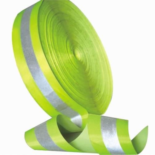FR Reflective Tape - Fluorescent w/Silver Stripe