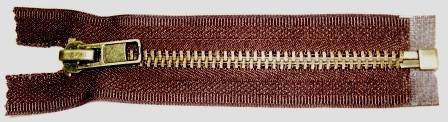 #8 Medium/Heavy Antique Brass Zippers (One way)