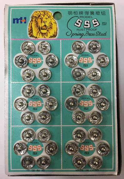 Sew-on Snaps - SILVER