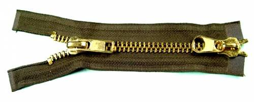 #8 Medium Heavy Antique Brass Zippers (Two way)
